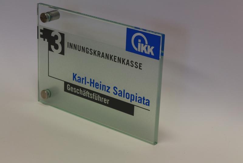 Glasschilder, Echtglas Schild, Praxisschild,