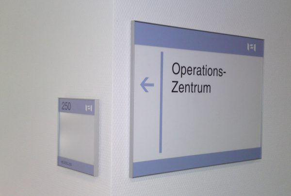 Türschilder Raumbeschilderung Magnetschild Wechselrahmen