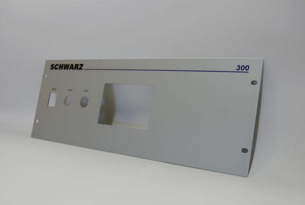 aluminium frontplatte typenschild 19 zoll schrank elocal unterdruck