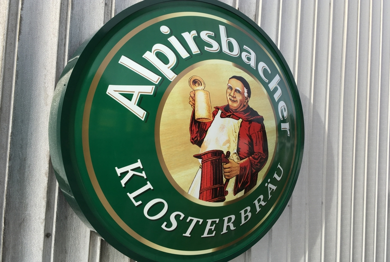 Leuchttransparent Logo Alpirsbacher Bier