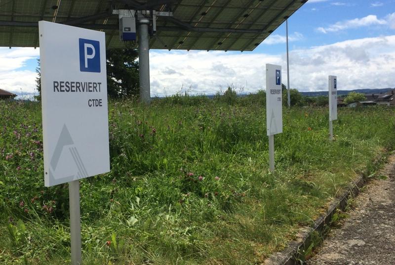 Parkplatzschild Leitsystem kennzeichnung von Parkplätzen