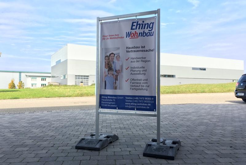 Spannbanner Plane Werbeschild Bauschild flexibel